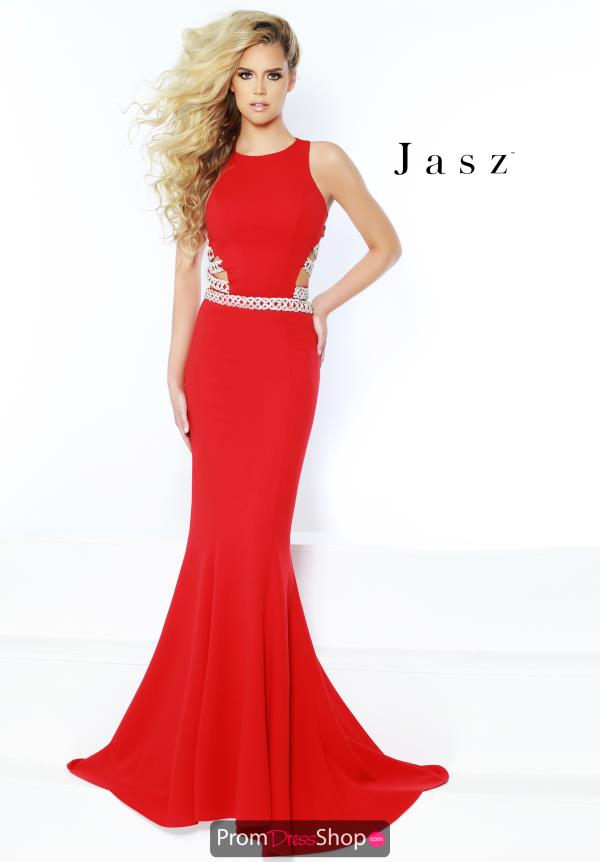Jasz Couture Jersey Fitted Dress 6424