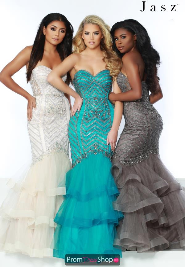 Jasz Couture Strapless Mermaid Dress 6429