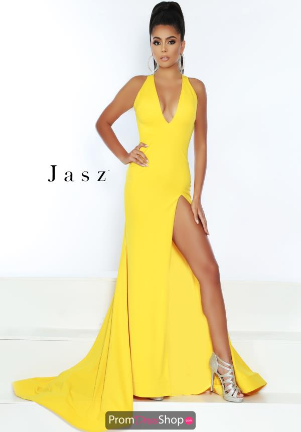 Jasz Couture Fitted Simple Jersey Dress 6442