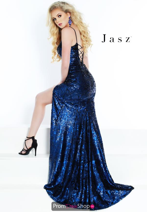 Jasz Couture Fitted Sequined Dress 6448