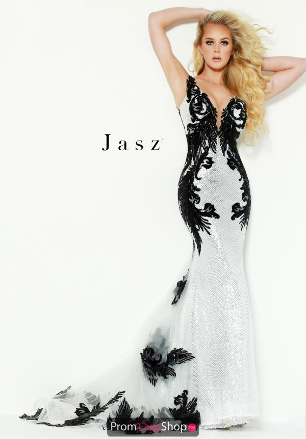 Jasz Couture Ethereal Dress with Train 6450