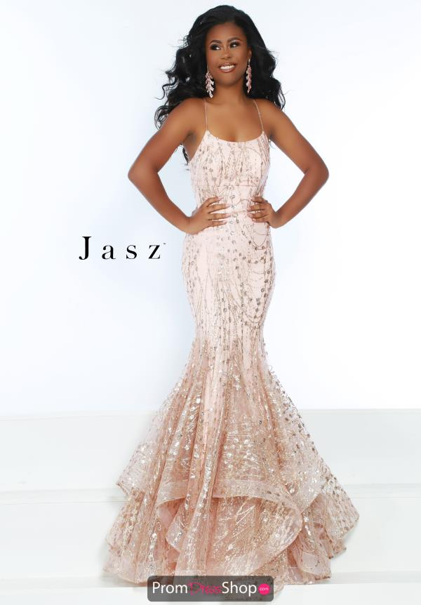 Jasz Couture Scoop Neck Mermaid Dress 6457