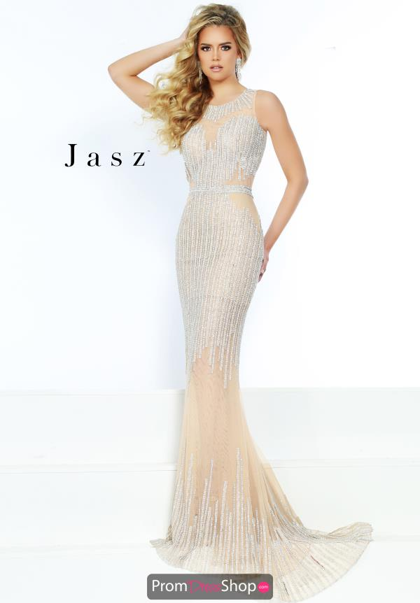 Jasz Couture High Neck Fitted Dress 6468