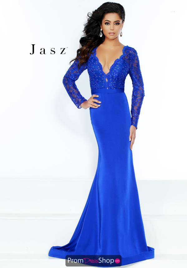 Jasz Couture Long Sleeve Fitted Dress 6496