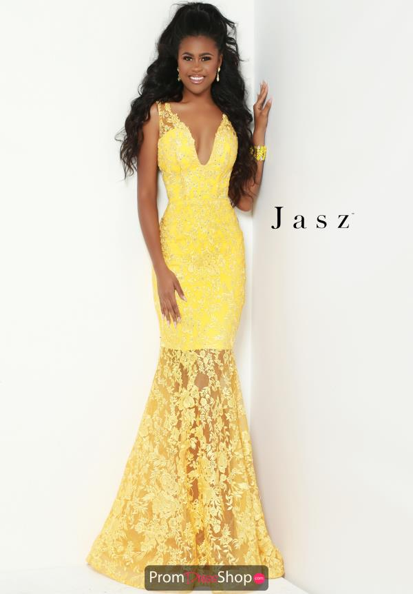 Jasz Couture Fitted Lace Dress 6502