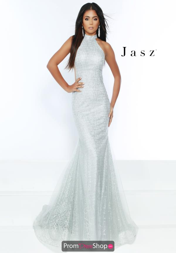 Jasz Couture High Neck Fitted Dress 6508