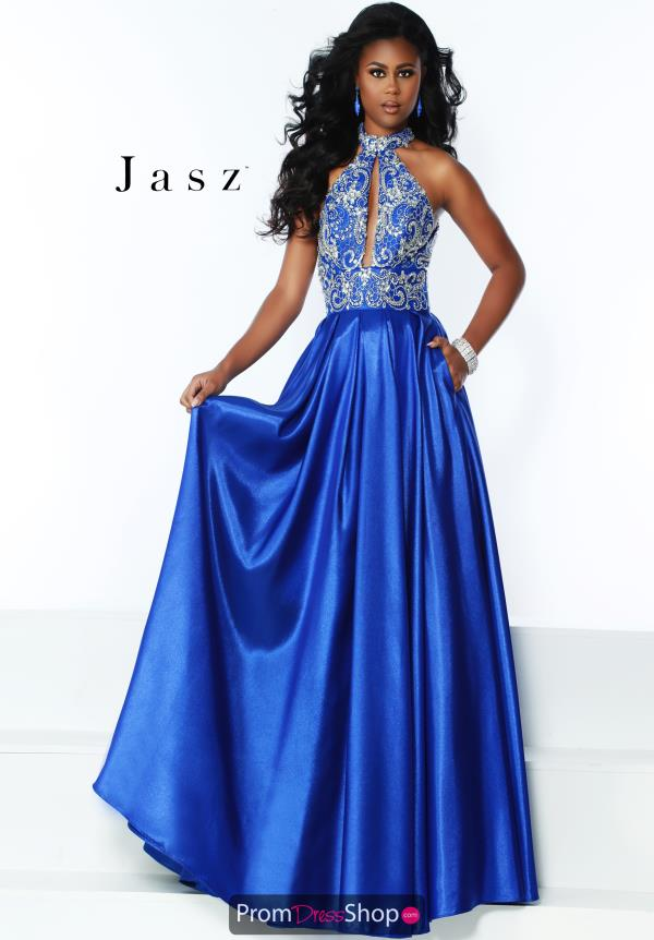 Jasz Couture Sophisticated A-Line Dress 6516