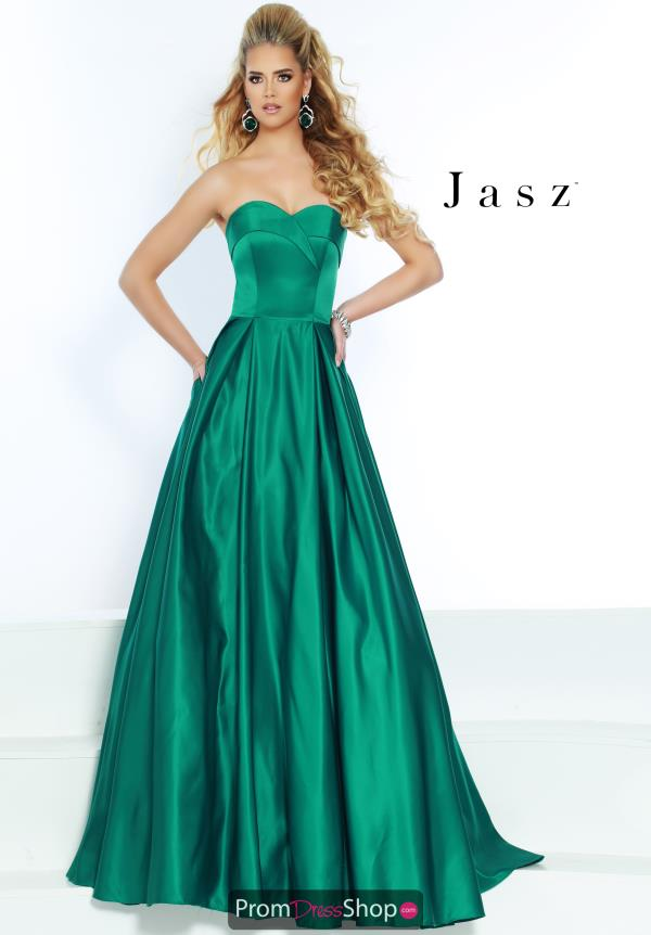Jasz Couture Strapless A-Line Dress 5620