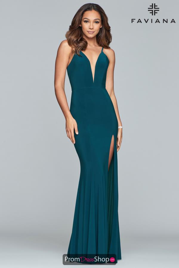 Faviana Fitted Long Dress 7977