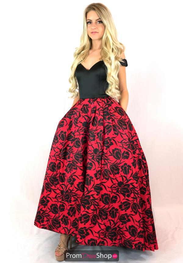 Long Cap Sleeved Sherri Hill Dress 50714