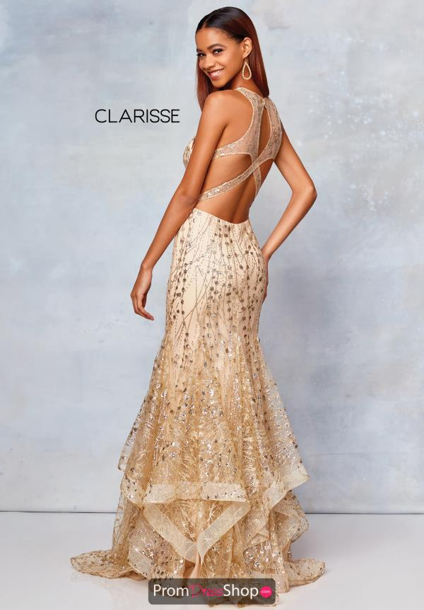Clarisse High Neckline Long Dress 3862