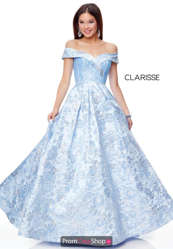 Clarisse Off the Shoulder A Line Dress 3872