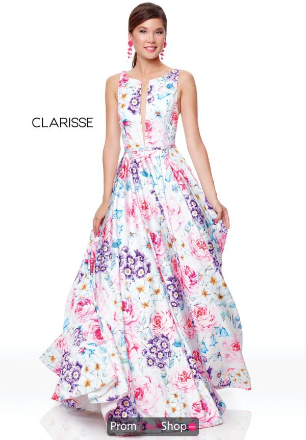 Clarisse Full Figured Long Dress 3874