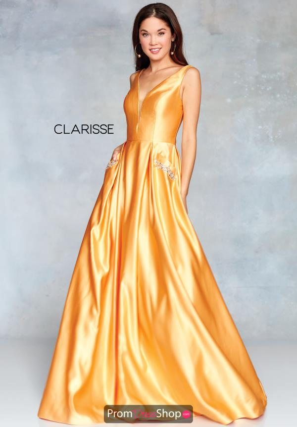 Clarisse Full Figured Satin Dress 3741