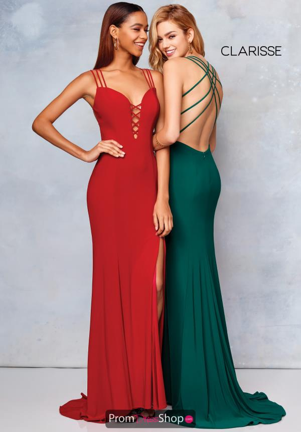 Clarisse Open Back Fitted Dress 3775
