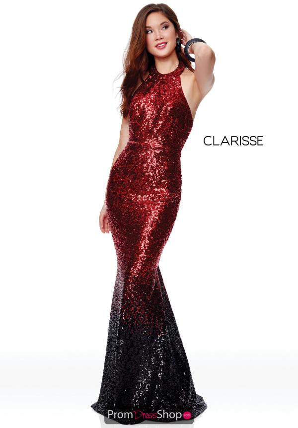 Clarisse Open Back Fitted Dress 3798