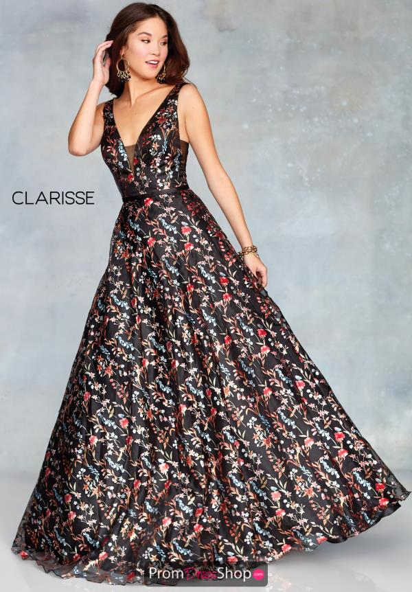 Clarisse Full Figured V-Neck Dress 3804