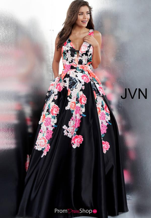 JVN by Jovani Long Print Dress JVN66068