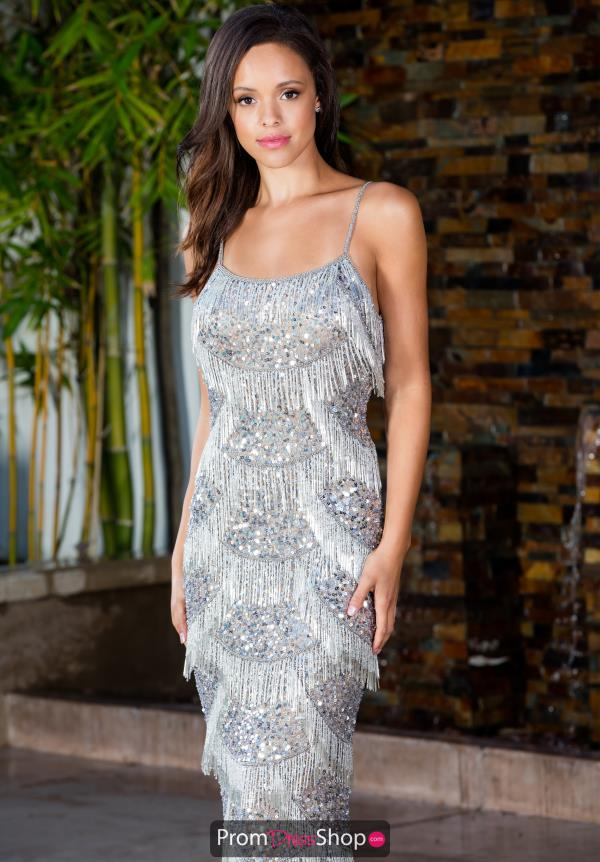 Scala Fitted Sequins Dress 48934