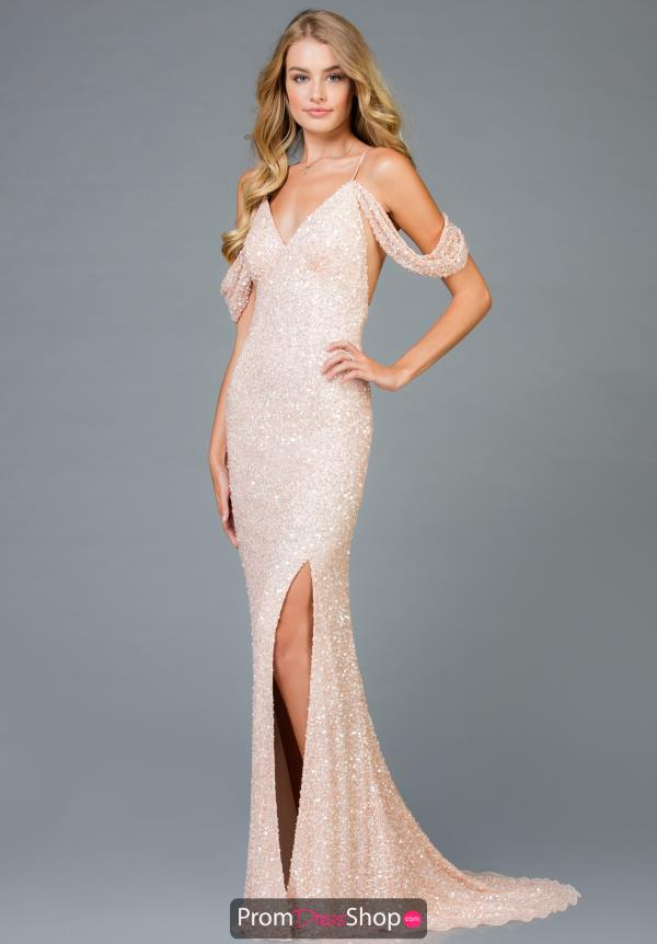 Scala Long Sequins Dress 48979