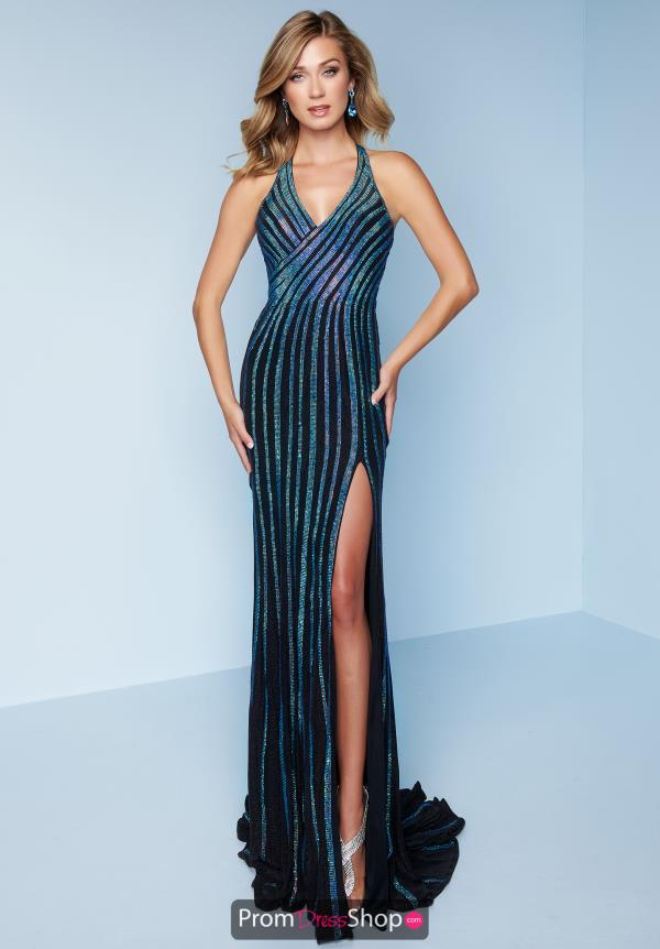 Splash Beaded Fitted Dress K161