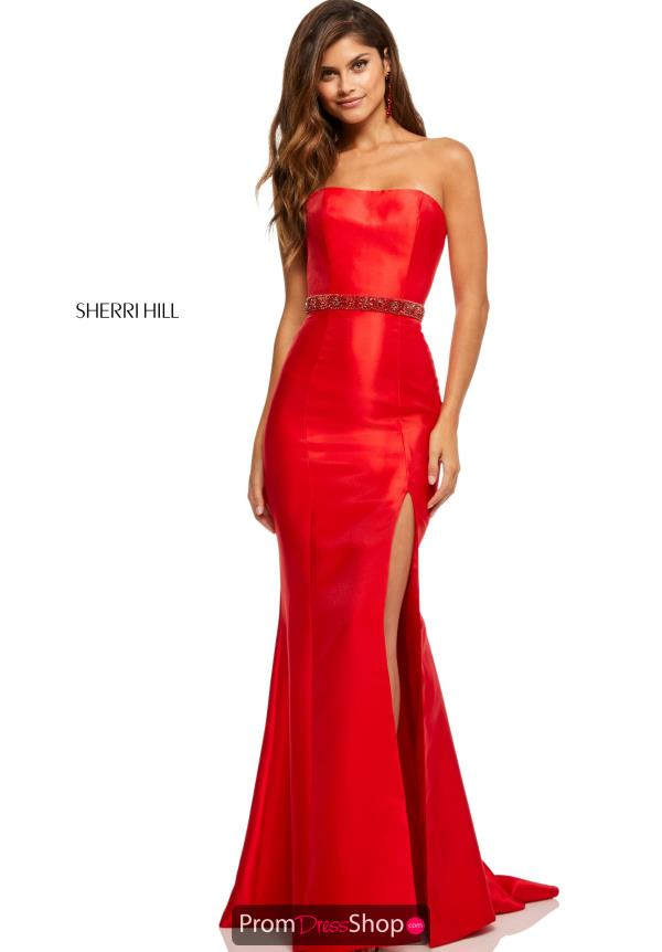 Sherri Hill Taffeta Long Dress 52541