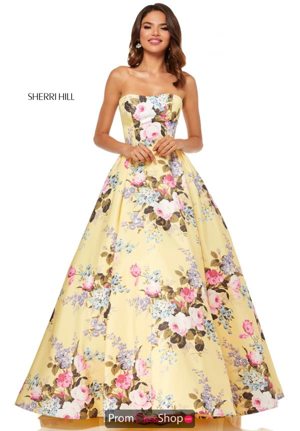 Sherri Hill A Line Long Dress 52553