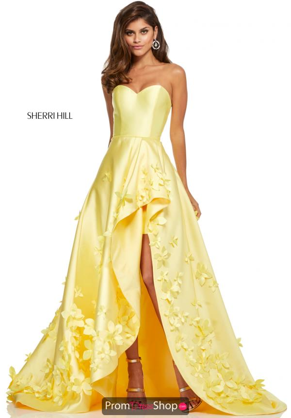 Sherri Hill High Low A Line Dress 52581