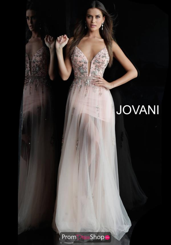 Jovani Tulle Skirt A Line Dress 55621