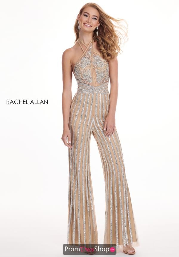 Rachel Allan Fitted Beaded Jumpsuit 6415