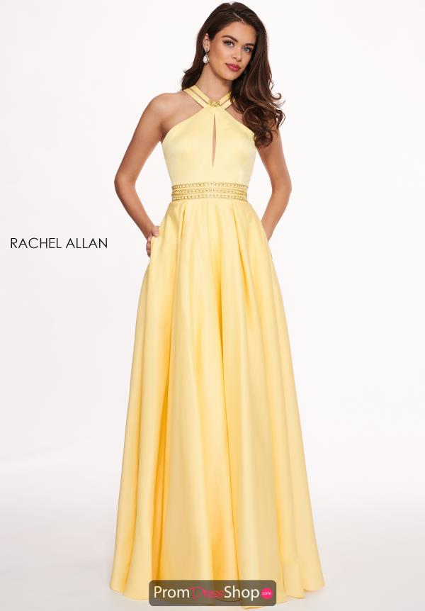 Rachel Allan Simple Satin A-Line Dress 6464