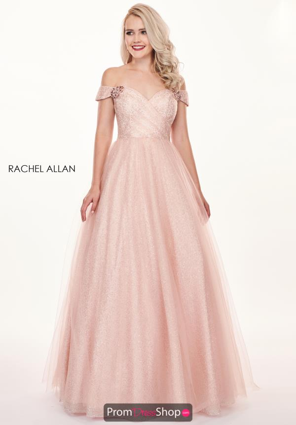 Rachel Allan Off the Shoulder A-Line Dress 6530