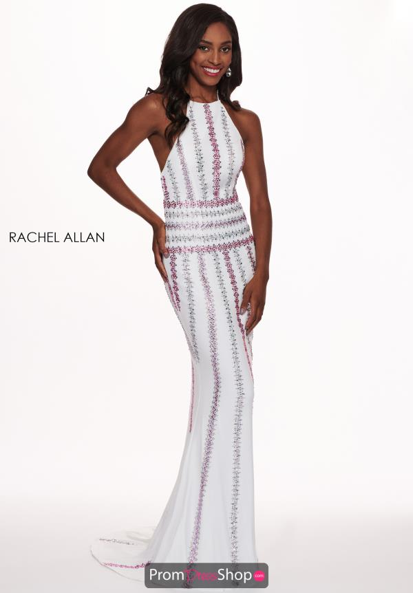 Rachel Allan Beaded Fitted Dress 6575
