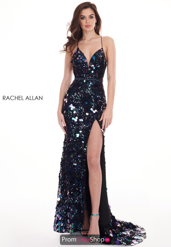 Rachel Allan Long Sequins Dress 6588