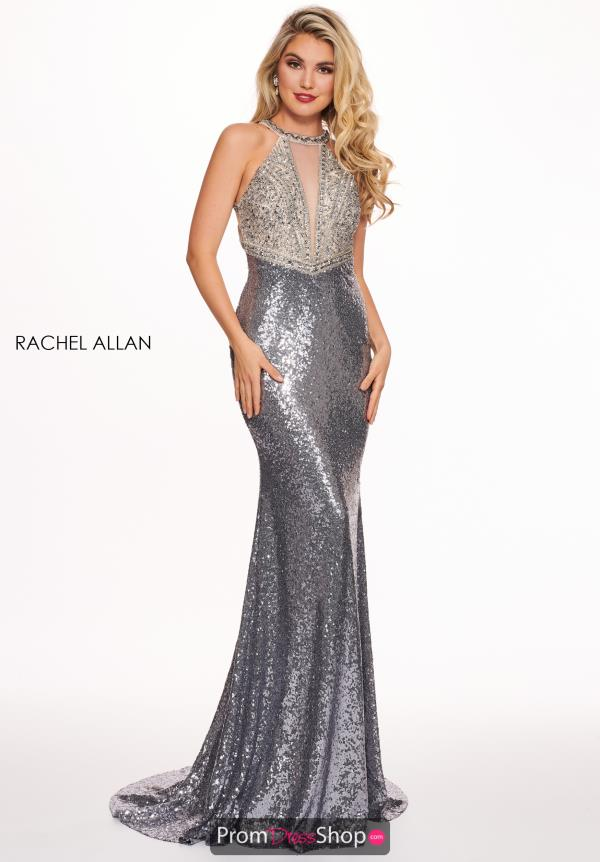 Rachel Allan Long Beaded Dress 6630