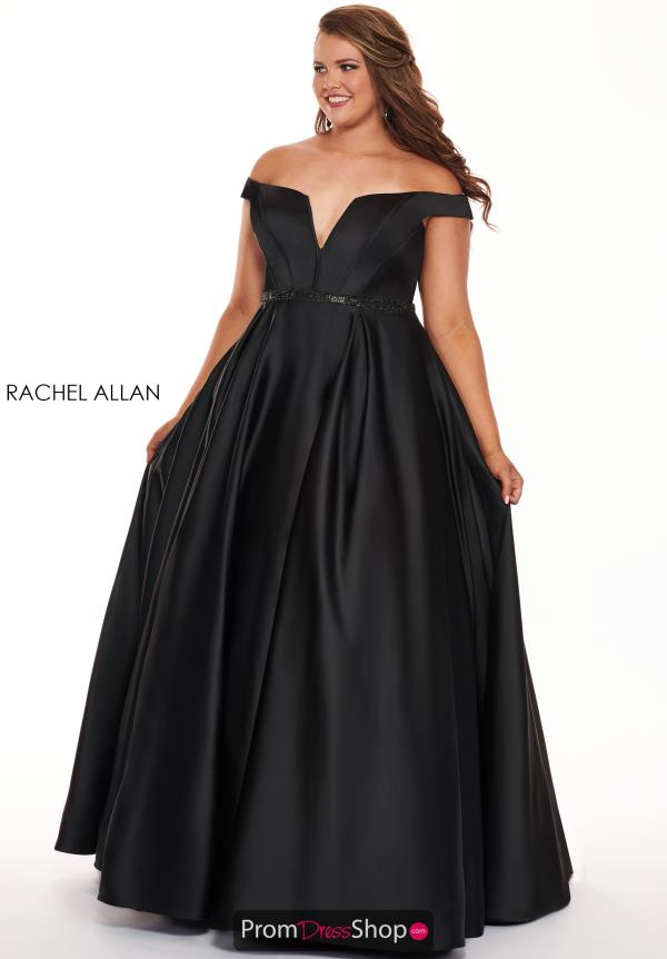 Rachel Allan Long Off the Shoulders Dress 6670