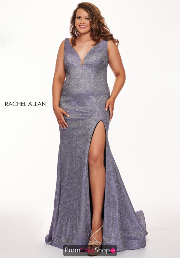 Rachel Allan V- Neckline Fitted Dress 6697