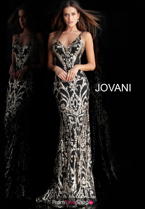 Jovani Fitted Black Dress 63350
