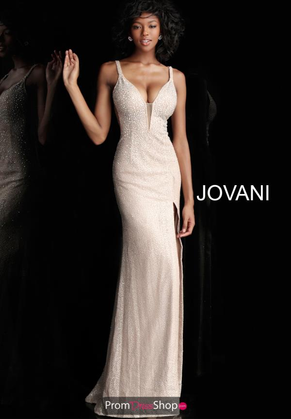 Jovani Beaded Fitted Dress 54802