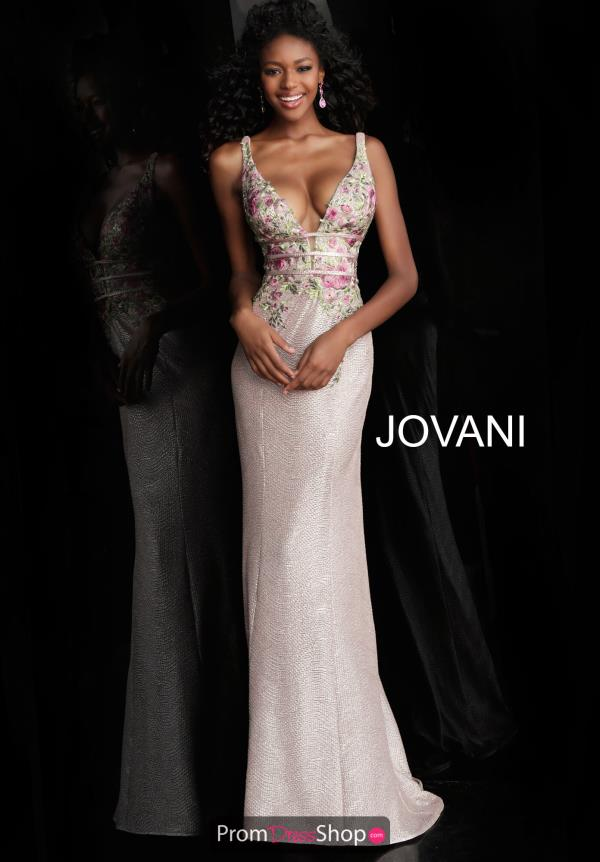 Jovani Beaded Floral Dress 58984