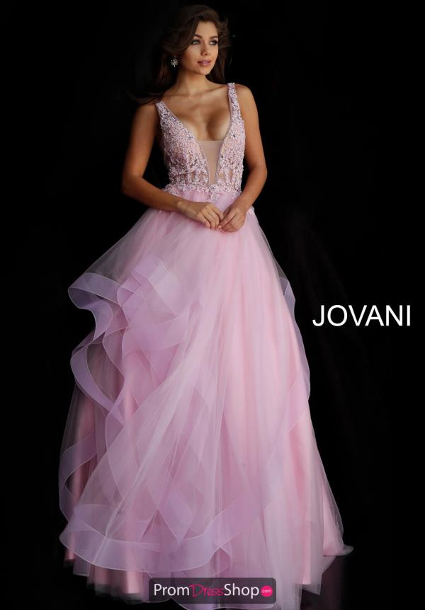 Jovani V-Neck Ball Gown 59073