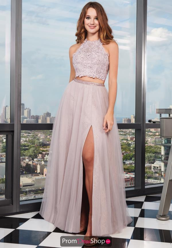 Rachel Allan Two Piece Flowing A-Line Dress 6437