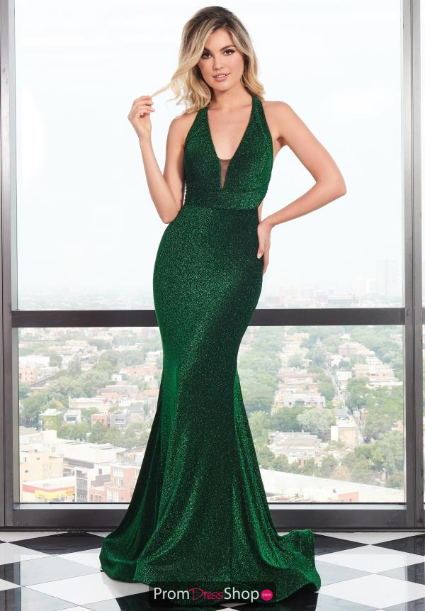 Rachel Allan V- Neckline Fitted Dress 6595