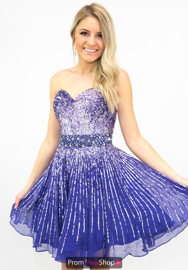 Sherri Hill Strapless Purple Dress 8524