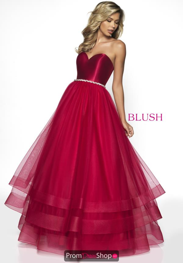 Blush Tulle Skirt A Line Dress C2036