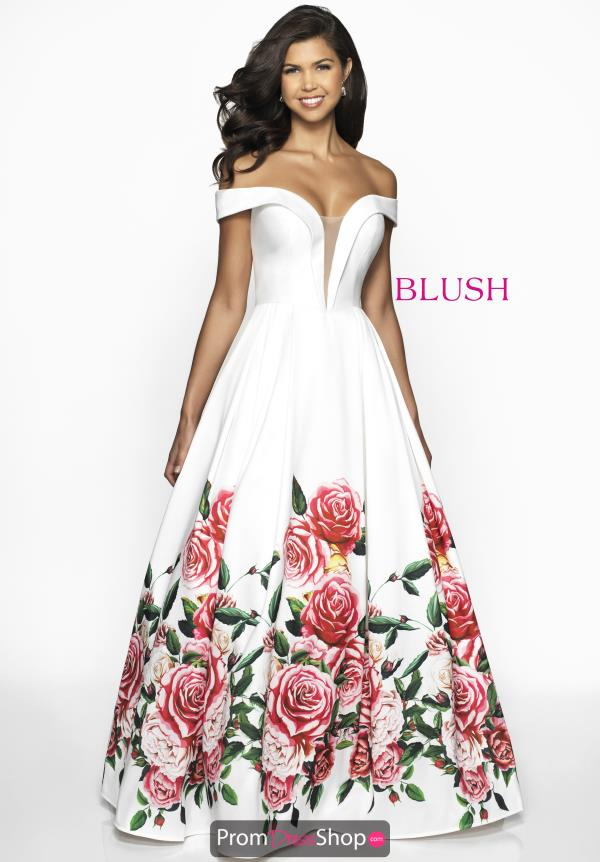 Blush Long Ivory Dress C2062