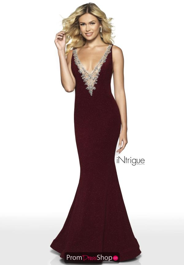Intrigue by Blush Stretch Glitter Dress 516