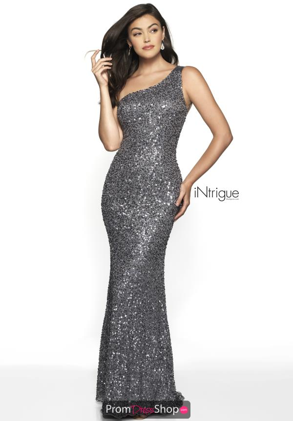 Intrigue by Blush Sexy Back Beaded Dress 563