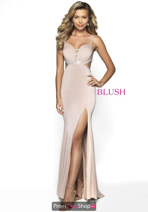 Blush Long Fitted Dress 11701