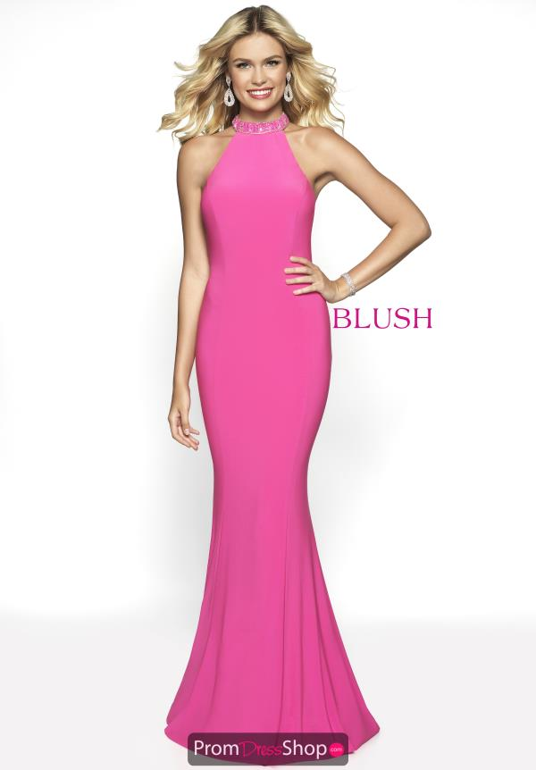 Blush Fitted Jersey Dress 11732